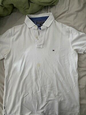 Tommy Hilfiger White Polo M