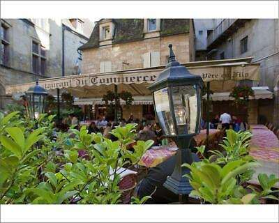 "10""x8"" (25x20cm) Print of A cafe in Sarlat France from"