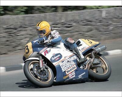 "10""x8"" (25x20cm) Print of Joey Dunlop (H*nda) 1985 Senior TT from"