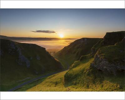"10""x8"" (25x20cm) Print Winnats Pass with cloud inversion at sunri..."