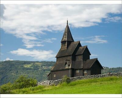 "10""x8"" (25x20cm) Print The Urnes Stave Church in Urnes, UNESCO Wo..."