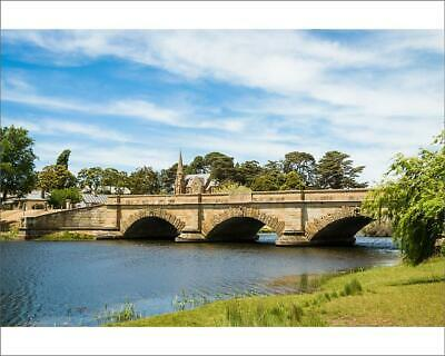 "10""x8"" (25x20cm) Print Historic bridge in Ross, Tasmania, Australia"