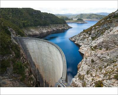 "10""x8"" (25x20cm) Print The Gordon Dam on Lake Gordon, southwest T..."