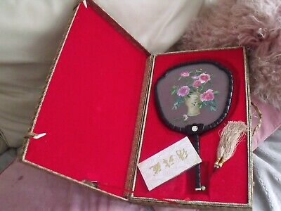 Vintage Unusual Oriental Ornament Well Made With Stand And Silk Box Fully Lined