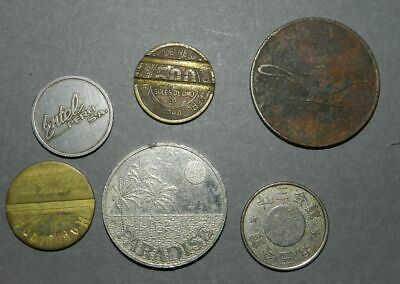 6 Old Tokens - Various -  Interesting & Scarce Types
