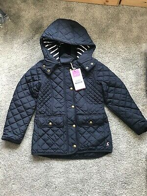 NEW Joules Warm Welcome Newdale Coat Jacket 7-8yrs BNWT Quilted Navy