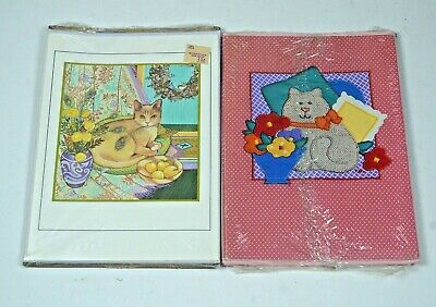 Current Cat Note cards and envelopes 1986 & 1984 NOS  9 cards in total