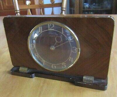 Smiths 8 Day Vintage Windup Mantel Clock, wood case, not working, parts/repair?