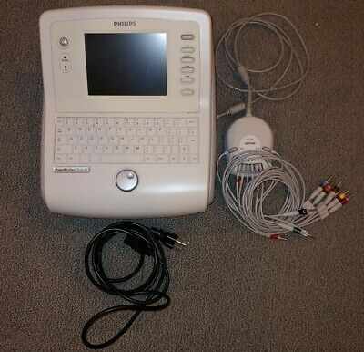 Philips Pagewriter Trim III 3 EKG Machine with 10-Lead Module & Wires