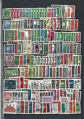 West Germany. Collection of 290 stamps, 1951 to 1978, Mint & Used.
