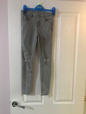 Next Boys Grey Ripped Knee Skinny Jeans Age 9 Years