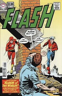 The FLASH #123 DC Comics FACSIMILE EDITION Justice League FLASH OF TWO WORLDS!