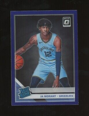 2019-20 Donruss Optic Purple Ja Morant Memphis Grizzlies RC Rookie