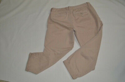 Women's J.Crew Broken-in Chinos Pants Size 8R City Fit Camel Tan color
