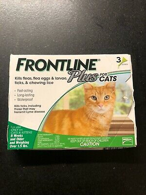 Frontline Plus Flea and Tick Treatment for Cats - 3 Doses