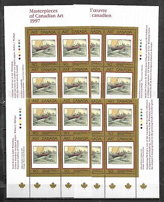 pk49953:Stamps-Canada #1635 Art Canada 90 cent Plate Block Set-MNH