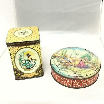 Vintage Tins Embassy Confectionary G.J Coles & Co Tea Kitchenware 1960s #454