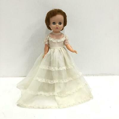 Vtg 1960s Perfekta Doll in White Dress #544