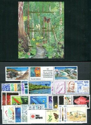 NOUVELLE CALEDONIE 1991 892-926 ** POSTFRISCH Yvert 602-628A, PA278-279(09762