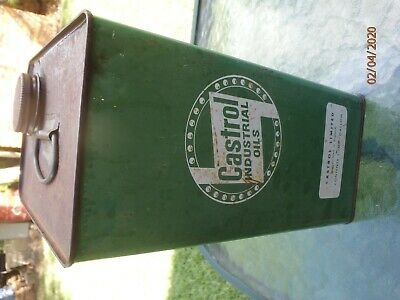 Vintage Rare One Imperial Gallon Oil Tin Castrol Indistrial Motor Oil CW SAE 30