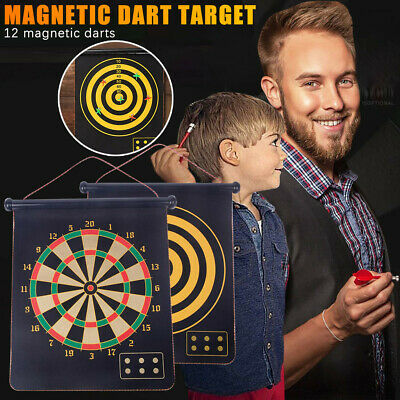 Magnetic Dart Board Games for Adults and Kids  Double-Sided Dartboard Set