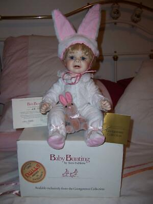 Porcelain Doll Baby Bunting Georgetown Collection Rabbit Soft Toy Ears Coa Box