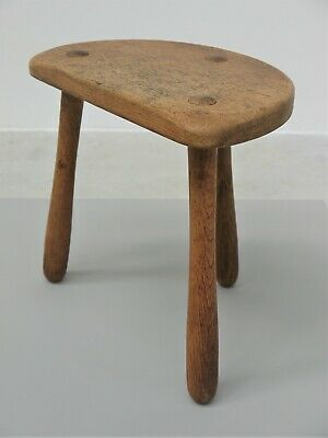 1950 Original Vintage French Three Legged Milking Stool Very Perriand Midcentury