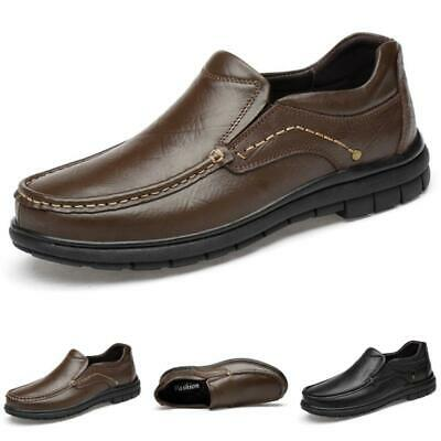 Mens Round Toe Oxfords Work Office Flats Casual Business Leisure Leather Shoes