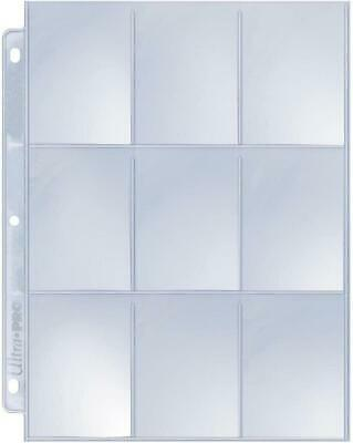 Ultra Pro 9-Pocket Silver Series Page Protector for Standard Size Cards (25-Coun