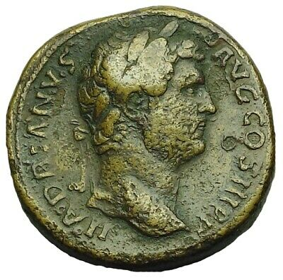 Hadrian Ae Sestertius With Old Collection Id Packet (880P)