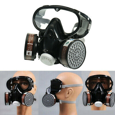 With Safety Goggle Dual Protection Emergency Filter Respirator Chemical Gas Mask