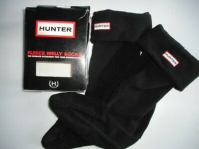 HUNTER  FLEECE WELLY SOCKS Black  Size M UK-3-5  ,EUR -36-38 New With Box