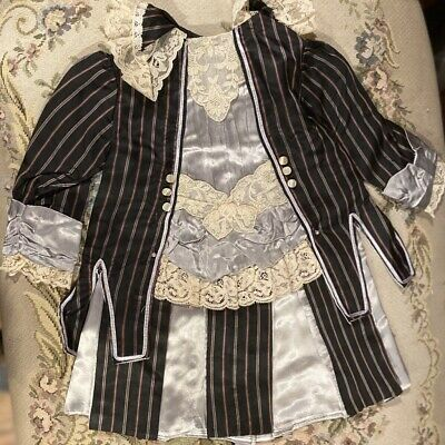 """Fine French Type Silky Doll Dress for 22"""" Antique Bisque Doll Orig Price $159!"""