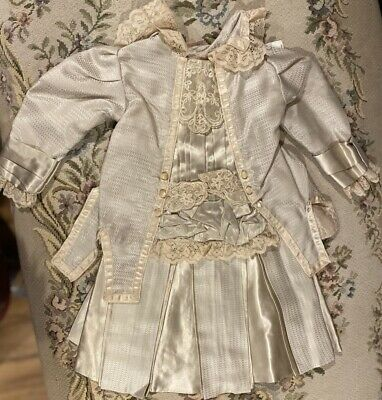 """Fine French Type Silky Doll Dress for 21"""" Antique Bisque Doll Orig Price $189!"""