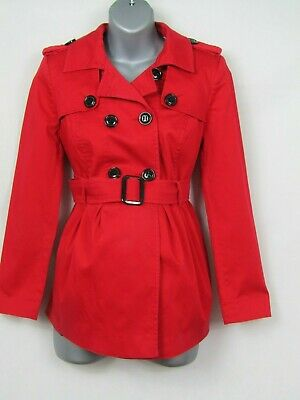 MOTHERCARE M2B maternity red 3/4 mac trench coat size 12