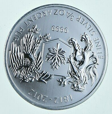 2012 .75 oz Canada Silver Arms of Canada $1 Coin .9999 Fine Brilliant UNC *283