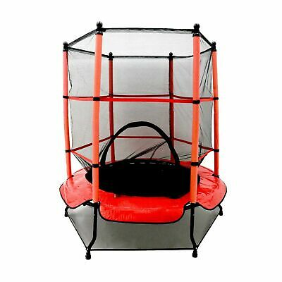 On Offer Kids 4.5ft Trampoline with Safety Net Enclosure & Red Cover Children's