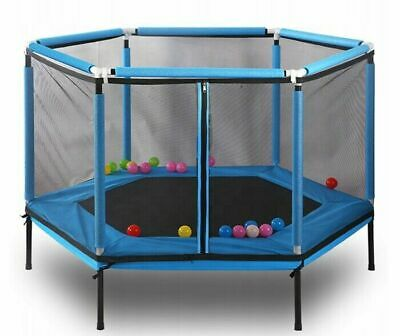 Blue Kids Mini Trampoline Children Outdoor Garden Activity Fun Safety Offer