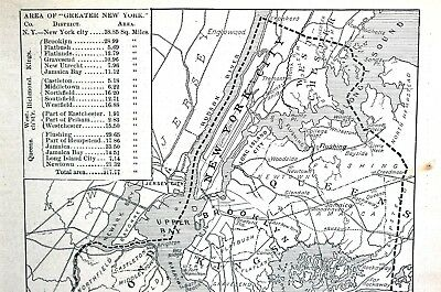 Proposed Plan NYC 1893 WESTCHESTER QUEENS STATEN ISLAND BROOKLYN Matted Map