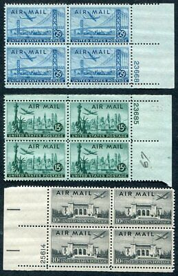 US  C34 - C36  Beautiful  Mint  NEVER Hinged AIR  MAIL  Block Set  VF  UPTOWN
