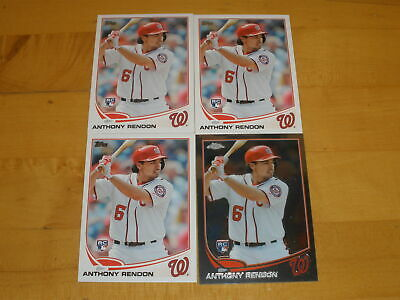2013 Topps Update Rookie #8 Anthony Rendon RC LOT OF 4 - 1 CHROME