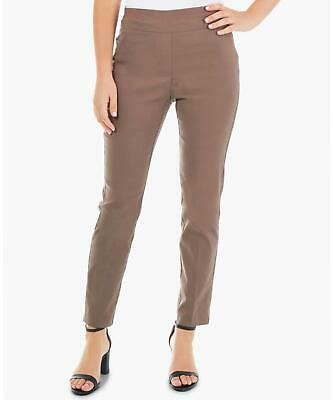 NY Collection 0864 Petites Size 8P Womens NEW Taupe Solid Skinny-Leg Pants $49