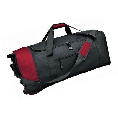 Collapsible Rolling Duffel Large Capacity Interior 32 in. Black/Red Travel Bag