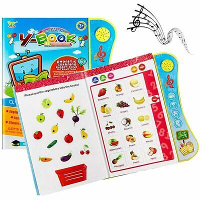 Learning Toys For 3+Year Old Toddler Educational Interactive Book Kids Children