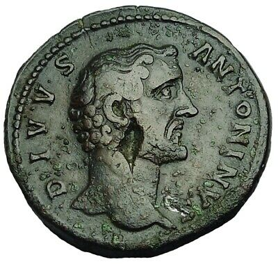 Divus Antoninus Pius Ae Sestertius With Old Collection Id Packet (884P)