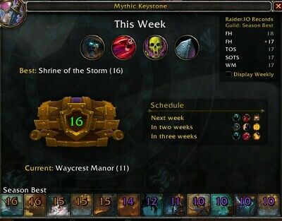 Mythic 10 Plus Weekly Chest Keystone Dungeon Boost 8.3 Season 4 Loot 465 iLVL