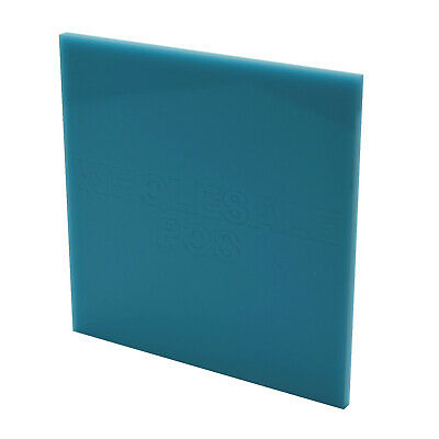 Turquoise Acrylic Sheet Perspex Panel 297mm x 210mm x 3mm Thick Sheet Sawn Edges