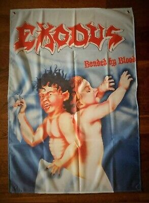 EXODUS - BONDED BY BLOOD FLAG CLOTH POSTER WALL TAPESTRY BANNER CD Slayer dvd