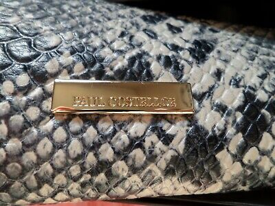 PAUL COSTELLOE Snake Skin Print Leather  Purses -new boxed