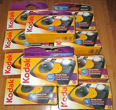10 New But Expired Film Disposable Kodak Cameras ~ HD Model ~ Lot J